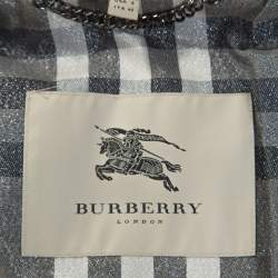 Burberry Black Quilted Zip Front Belted Jacket S