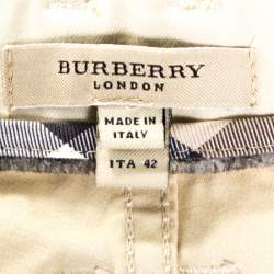 Burberry Beige Cotton Regular Fit Trousers M