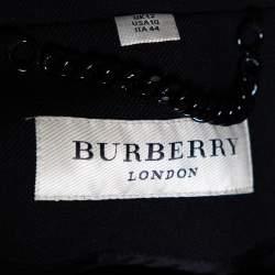 Burberry Black Wool Blend Cape Coat M