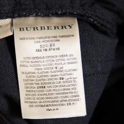 Burberry Brit Black Faded Effect Denim Skinny Jeans S