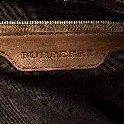 Burberry Brown Smoke Check PVC and Leather Tote