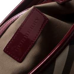 Burberry Beige/Red Supernova PVC and Patent Leather Small Nickie Tote