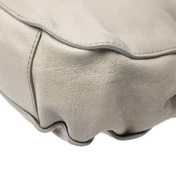 Burberry Grey Leather Lambeth Hobo