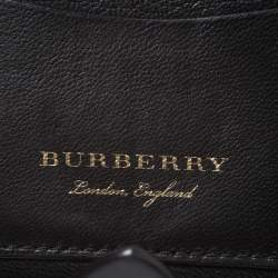 Burberry Black Leather Harlow Continental Wallet
