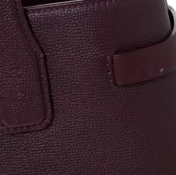 Burberry Burgundy Leather Medium Banner Tote