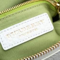 Burberry Lavender/White Ombre Leather Foldover Crossbody Bag