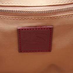 Burberry Nova Check and Black Leather Large Warrior Bag