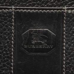 Burberry Black Leather Clutch Bag