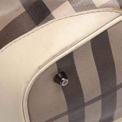 Burberry  Multicolor Smoked Check Canvas Satchel Bag