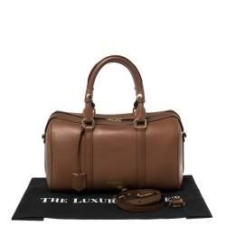 Burberry Tan Leather Medium Alchester Bowler Bag