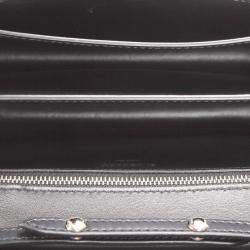 Burberry Black Leather TB Leather Crossbody Bag