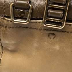 Burberry Two Tone Brown Leather Satchel