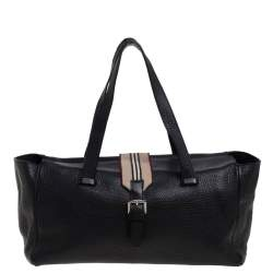 Burberry Black Leather Satchel