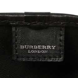Burberry Black Nova Check Vinyl Small Eden Satchel
