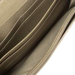 Burberry Beige Haymarket Check Continental Wallet