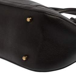 Burberry Black Leather Orchard Bowling Bag