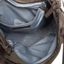 Burberry Multicolor Nova Check Nylon and Leather Buckleigh Tote