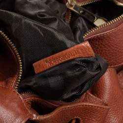 Burberry Brown/Beige House Check Fabric and Leather Margaret Hobo