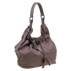 Burberry Copper Rust Leather Drawstring Hobo