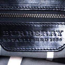 Burberry Metallic Black Leather Warrior Hobo