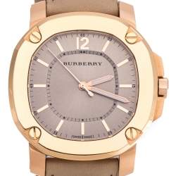Burberry Beige Rose Gold Plated The Britain BBY1503 Women's Wristwatch 36 mm
