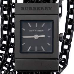 Burberry Black PVD Coated Stainless Steel Chain BU5601 Women's Wristwatch 20 mm
