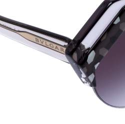 Bvlgari Black/Grey Gradient 8203 Serpenteyes Round Sunglasses
