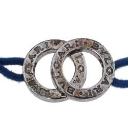 Bvlgari Sterling Silver Iconic Double Logo Charm Bracelet