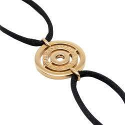 Bvlgari Astrale 18K Yellow Gold Black Cord Bracelet