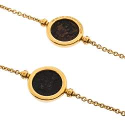 Bvlgari Ancient Coin 18K Yellow Gold Long Station Necklace