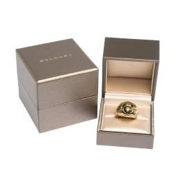 Bvlgari Peridot 18K Yellow & White Gold Dome Cocktail Ring Size 53