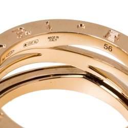 Bvlgari B.Zero1 Design Legend 18K Rose Gold 3-Band Ring Size 56