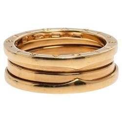 Bvlgari B.Zero1 18K Yellow Gold 2-Band Ring Size 60