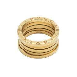 Bvlgari B.Zero1 Four-Band Yellow Gold Ring Size 59