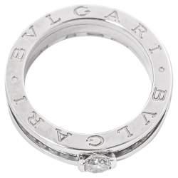 Bvlgari B.Zero1 Diamond 18K White Gold Engagement Ring Size 54