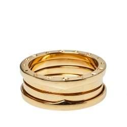 Bvlgari B.Zero1 18K Yellow Gold Three-Band Ring Size 61