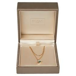 Bvlgari Divas' Dream Turquoise 18K Rose Gold Double Strand Bracelet SM