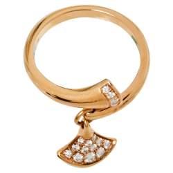 Bvlgari Divas' Dream Diamond 18K Rose Gold Ring Size 54