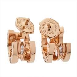 Bvlgari B.Zero1 Design Legend Diamond 18K Rose Gold Earrings