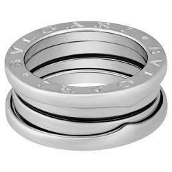 Bvlgari 18K White Gold B.Zero1 3 Band Ring Size EU 51