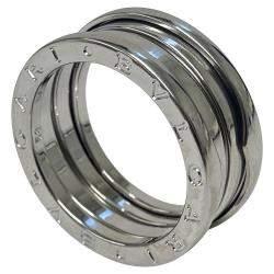 Bvlgari 18K White Gold 3 Band B.Zero1 Ring Size EU 57