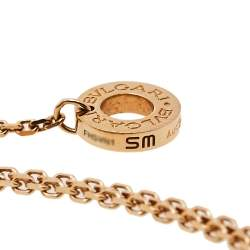 Bvlgari Divas' Dream Pavè Diamond 18k Rose Gold Charm Bracelet
