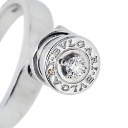خاتم بلغاري بي زيرو 1 ألماس ذهب أبيض عيار 18 بدلاية مقاس أوروبي 54.5