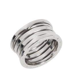 Bvlgari B.zero1 18K White Gold 4 Band Ring Size EU 56