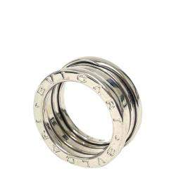 Bvlgari 18K White Gold B.Zero 3 Band Ring Size EU 50