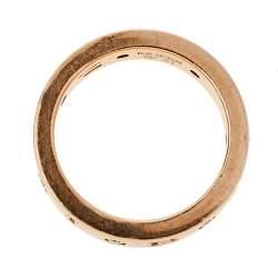 Bvlgari Bvlgari 18K Rose Gold Diamond Band Ring Size EU 51