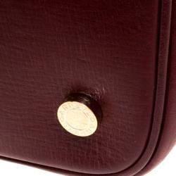 Bvlgari Burgundy Leather Isabella Rossellini Tote
