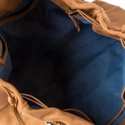 Bvlgari Beige Leather Bonton Tote