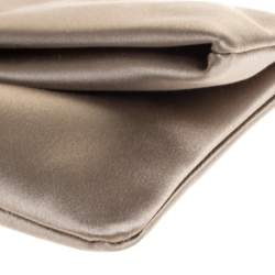 Bvlgari Beige Satin Monete Clutch