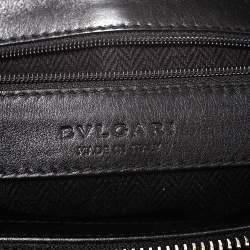 Bvlgari Black Canvas and Leather Chandra Hobo
